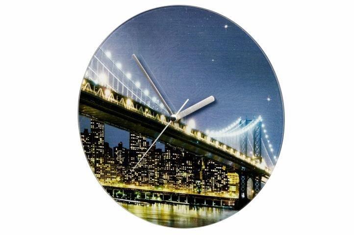 Nástěnné hodiny WENKO 27cm - Brooklyn Bridge