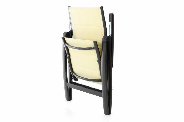 Sada 4 záhradných skladacích stoličiek DELUXE - krémová