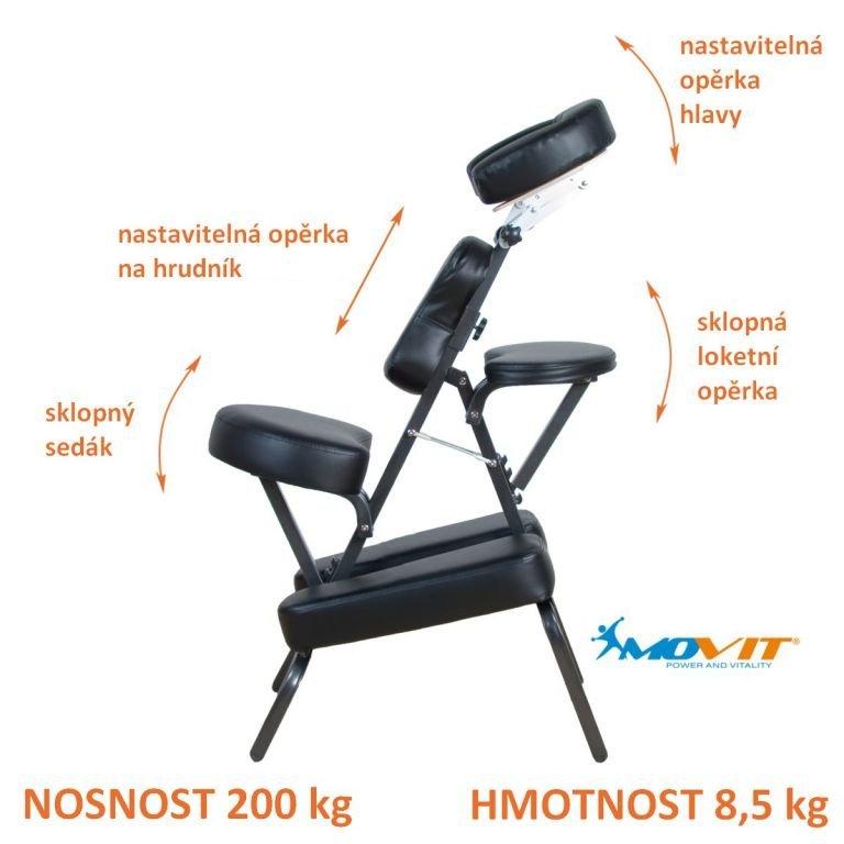 Masážne stoličky MOVIT skladací čierna 8,5 kg