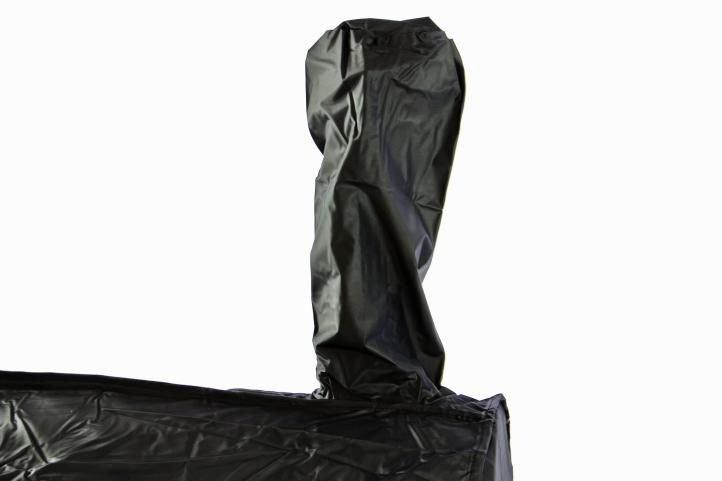 Ochranný obal na gril SMOKER - čierny cca 180 x 70 x 104 cm