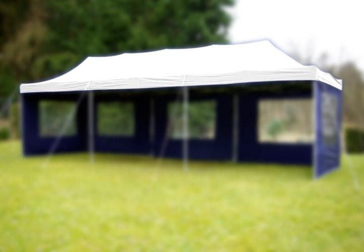 Náhradní střecha na zahradní skládací stan 3 x 9 m bílá