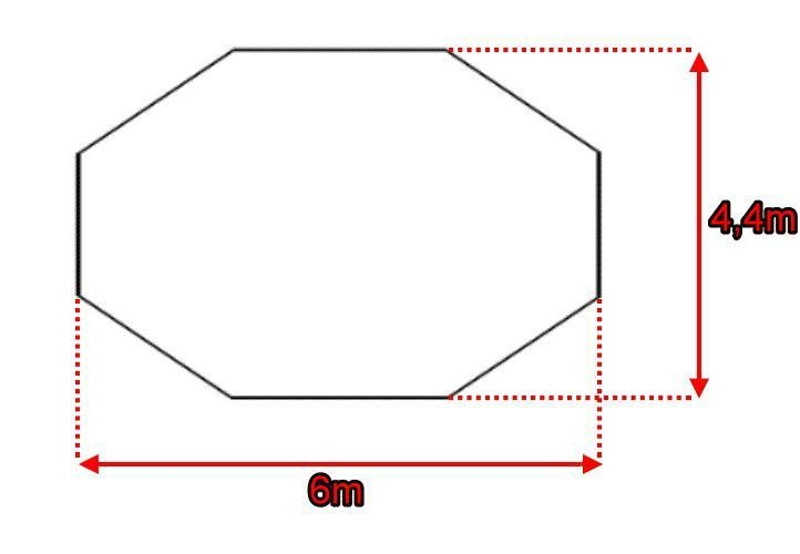 Párty stan - krémový, 6 x 4,4 x 3,3 m