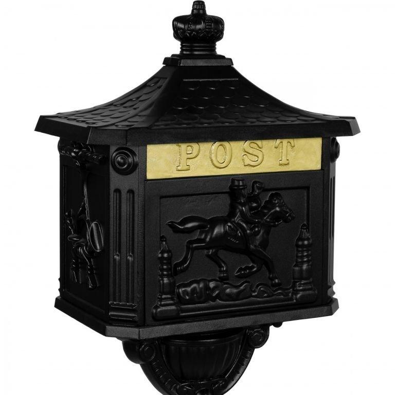 Poštovní schránka se stojanem, černá