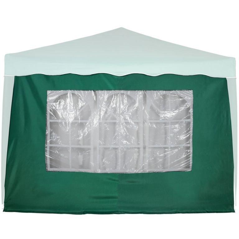 Náhradná bočná stena ku stanu s oknom - zelená