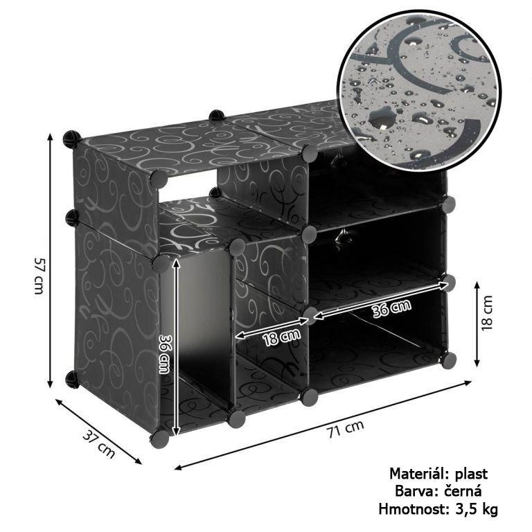 Regál černý - zásuvný systém