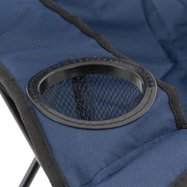 Sada 2 ks skládacích židlí – tmavě modré