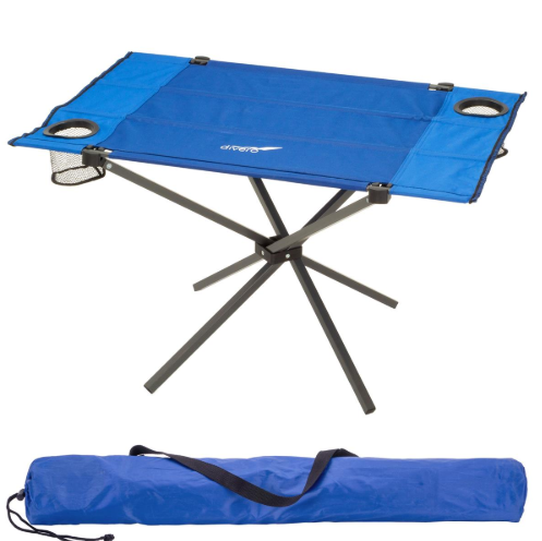 Skladací kempingový stôl, 80 x 50 cm