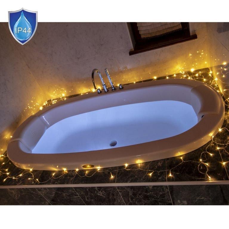 Vianočné LED osvetlenie 10 m - teplá biela 100 LED BATÉRIE