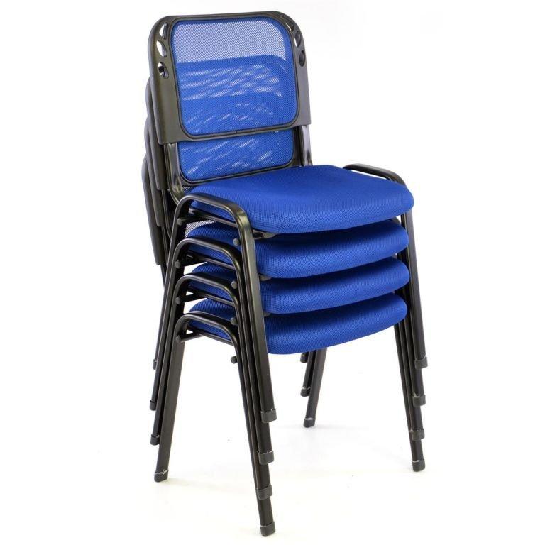 Sada stohovateľných stoličiek - 8 ks, modrá