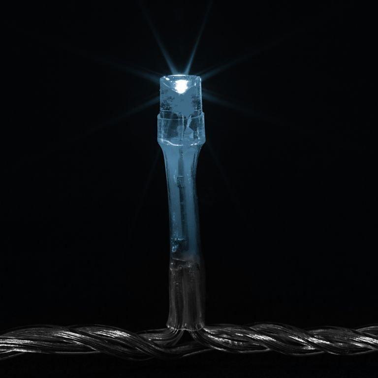 Vianočné LED osvetlenie 10 m - studená biela 100 LED BATÉRIE