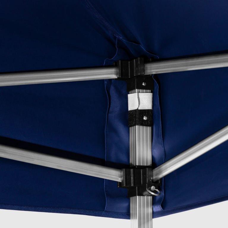 Záhradný párty stan nožnicový INSTENT 3 x 3 m + 2 bočné steny - modrá