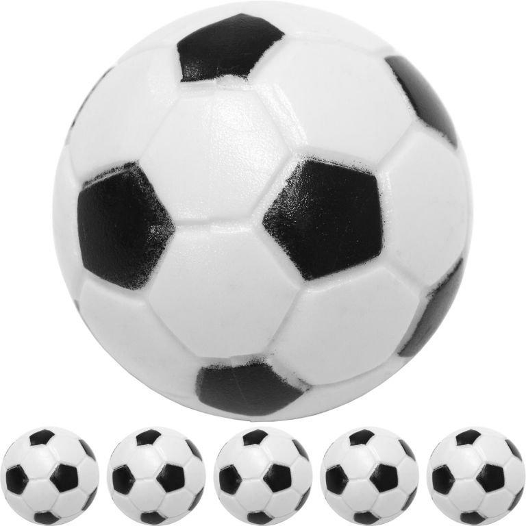 Sada 5 ks čiernobielych futbalových loptičiek, 31 mm