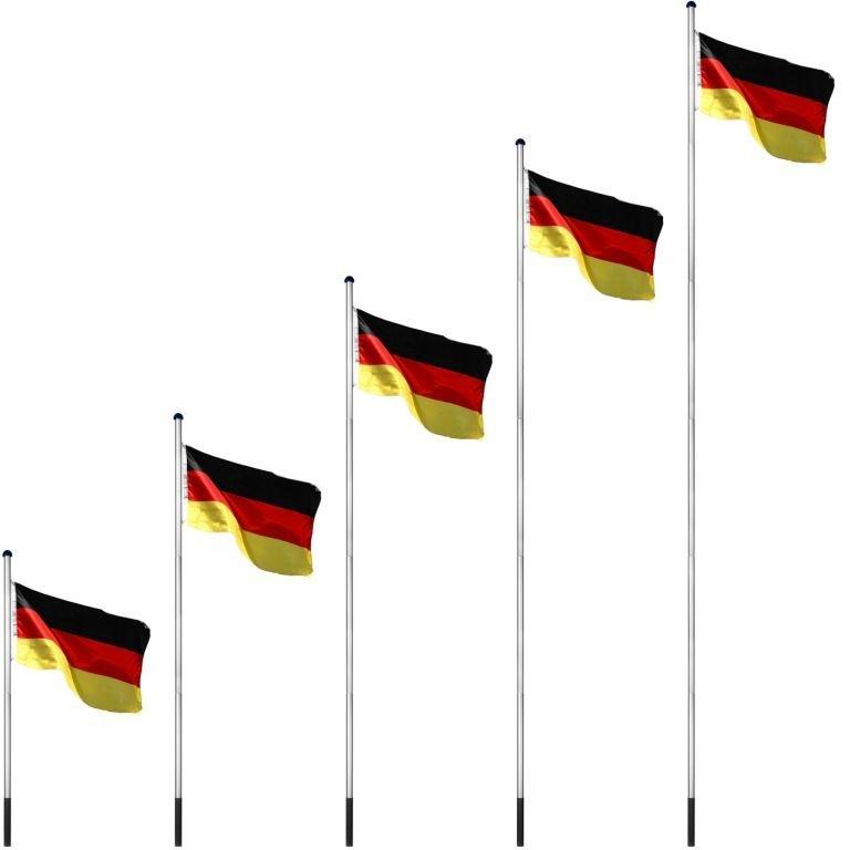 Vlajkový stožiar vrátane vlajky Nórsko - 650 cm