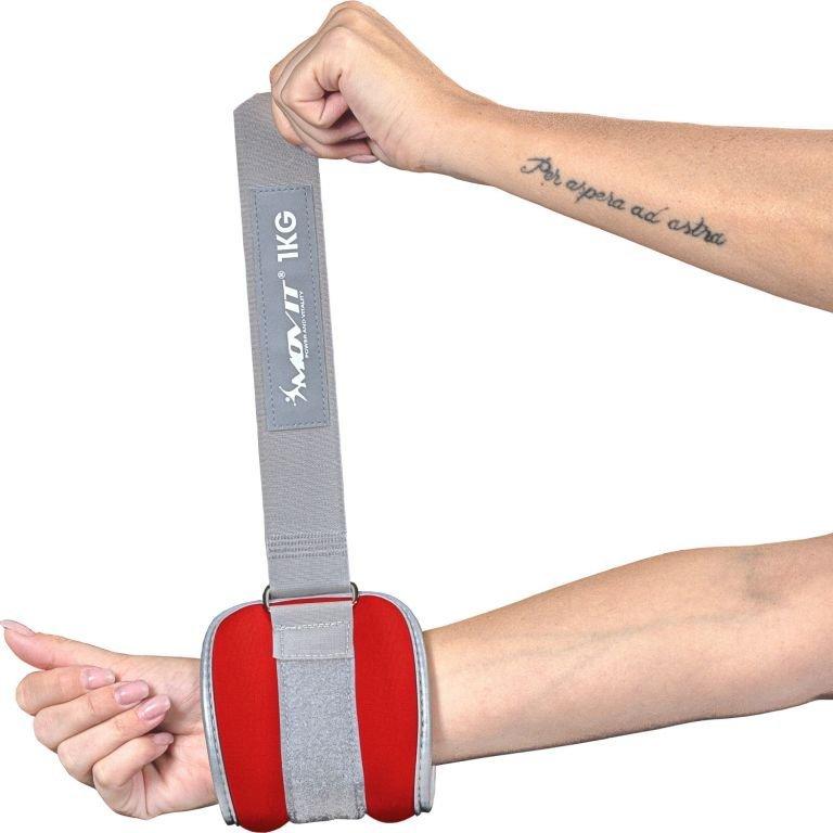 Neoprénové záťažové reflexné manžety 2 x 0,5 kg
