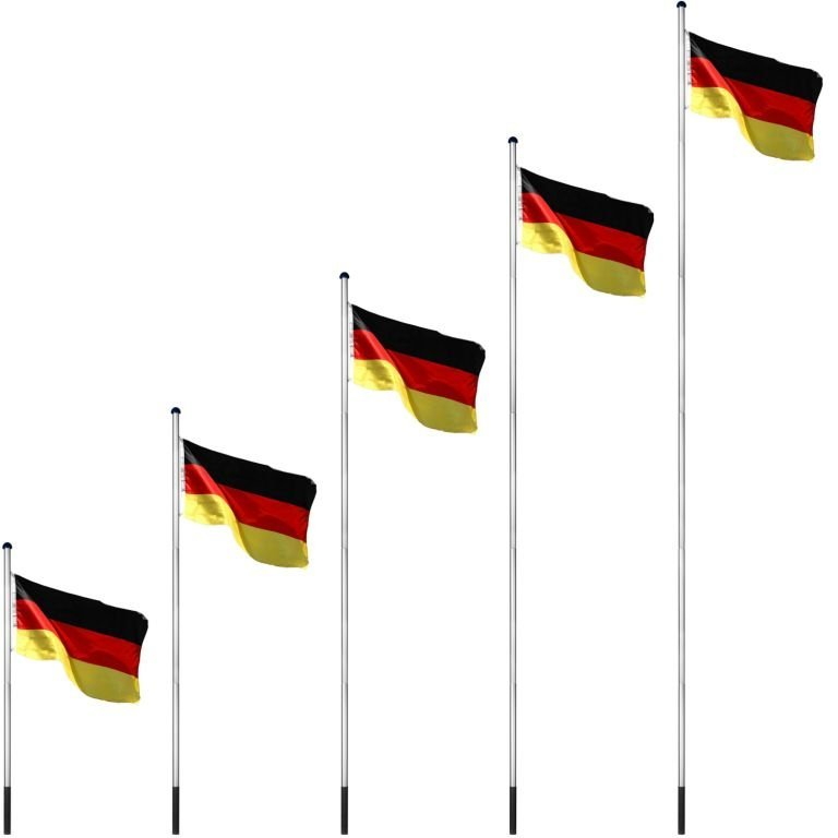 Vlajkový stožiar vrátane vlajky Švédsko - 650 cm