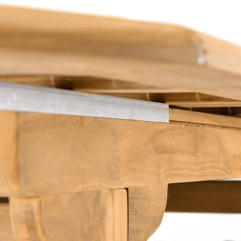 Rozšíriteľný záhradný stôl z tíkového dreva Garth