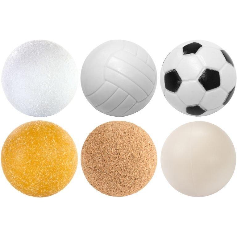 Sada 6 fotbálkových míčků - 35 mm