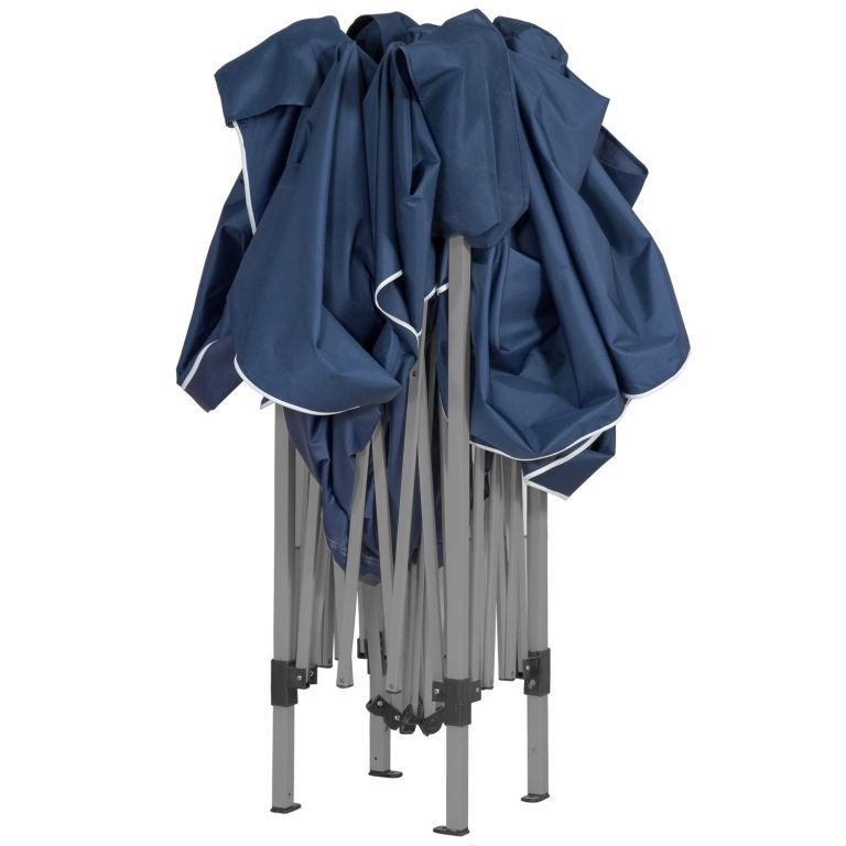 Instent zahradní párty stan - 3 x 3 m, modrý + 4 bočnice