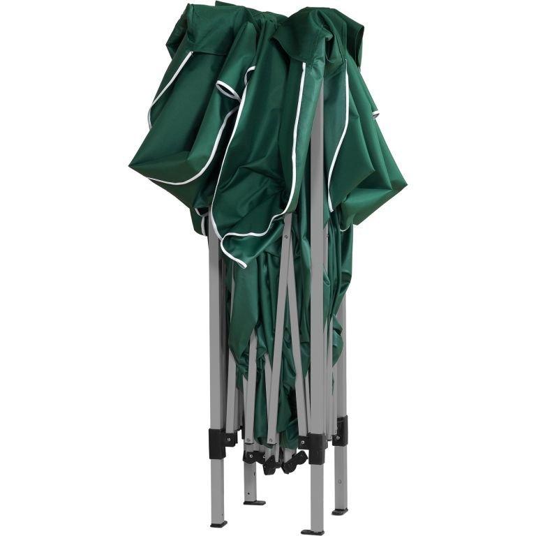 Zahradní párty stan - 3 x 3 m, zelený + 4 bočnice