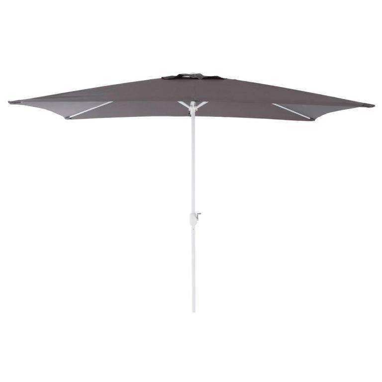 Slunečník s kličkou obdélníkový - antracit 2x3m