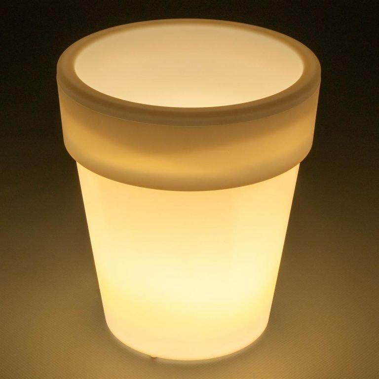 Sada 3 ks solárních květináčů - 3 LED, teple bílá