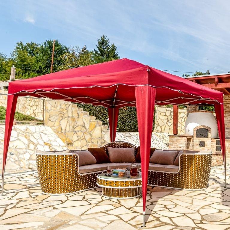 INSTENT zahradní párty stan - 3 x 3 m, vínová