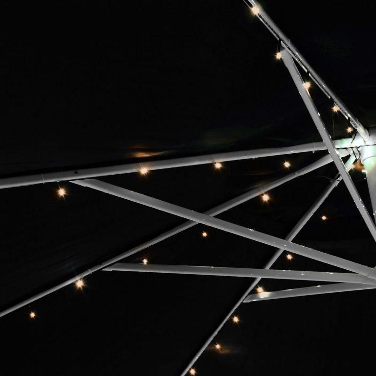 Solární blikající řetěz - 72 LED, teplá bílá