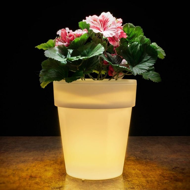 Solární ozdobný květináč - 3 LED, teple bílá