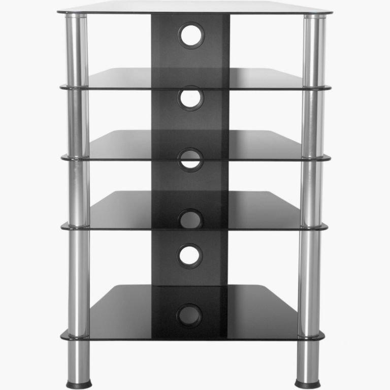 Hifi stolík 88 x 61 x 52 cm bezpečnostné sklo 61 x 88 x 52 cm