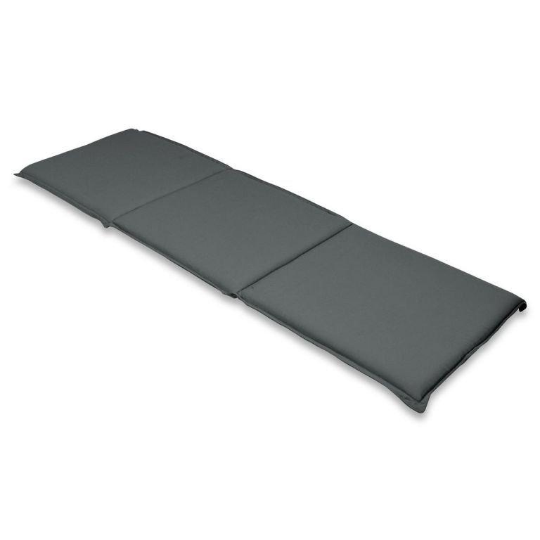 DIVERO polstrovanie na lavicu 146 cm, antracit