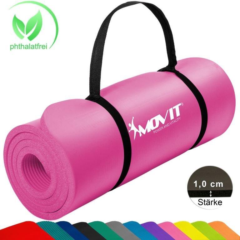 Gymnastická podložka MOVIT 183 x 60 x 1 cm - ružová