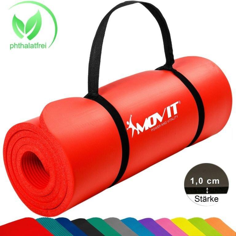 Gymnastická podložka MOVIT 183 x 60 x 1 cm - červená