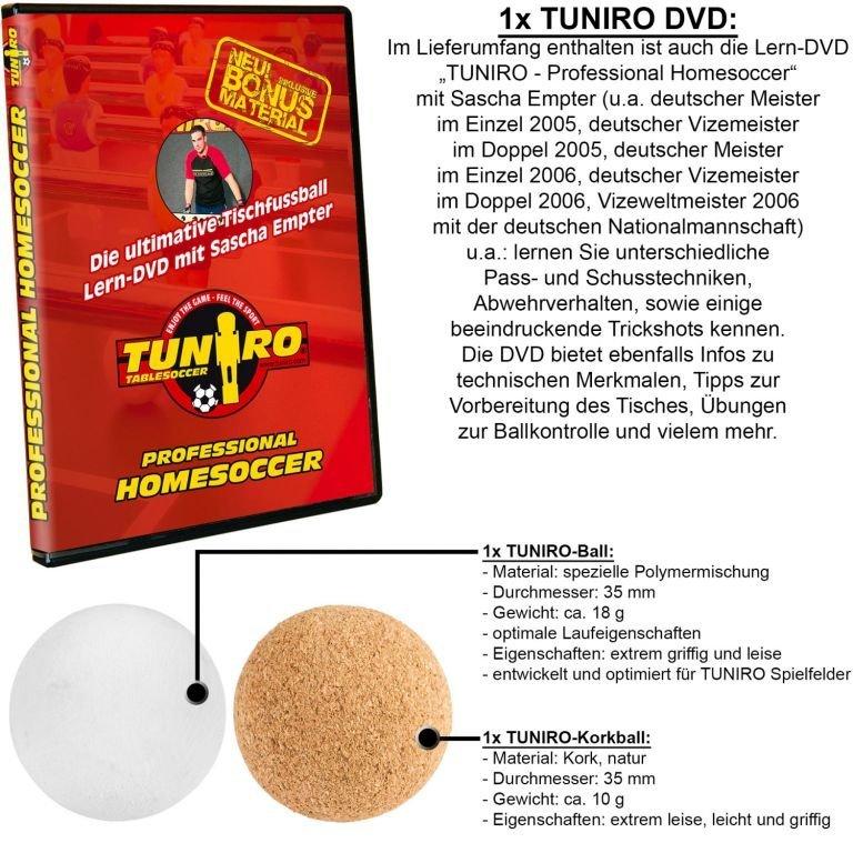 Stolný futbal TUNIRO PRO - biela