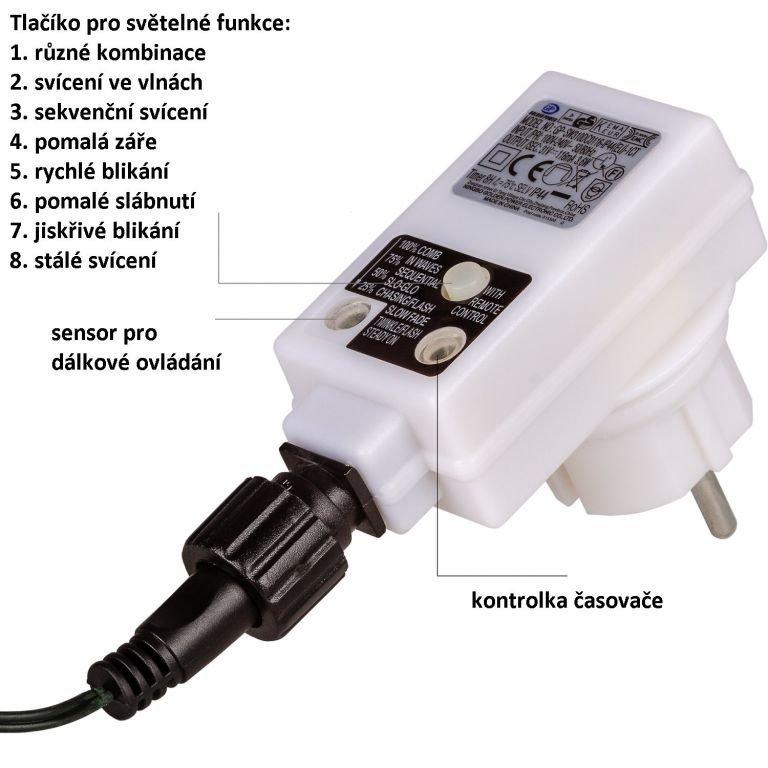 Párty LED osvetlenie 5 m - teplá biela 50 diód + ovládač