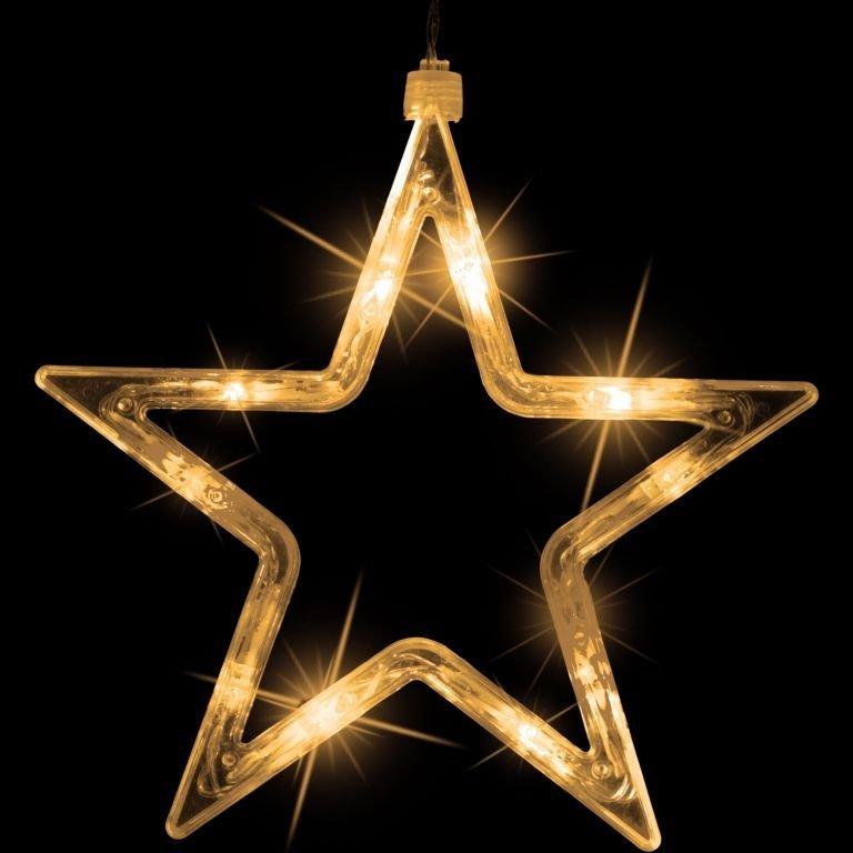 Vianočná dekorácia - svietiace hviezdy - 150 LED teplá biela