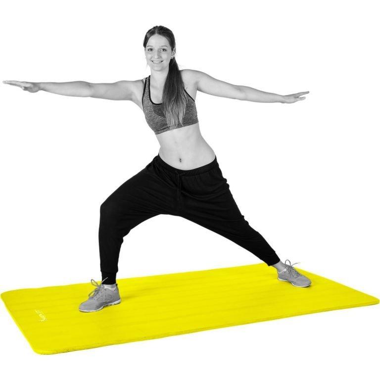 Podložka na jógu MOVIT 190 x 100 x 1,5 cm – žltá
