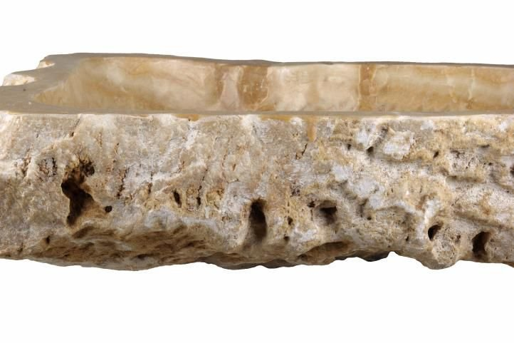 Umývadlo z prírodného kameňa - pruhované