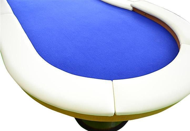 Pokerový stôl pre 10 osôb s LED osvetlením