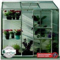 skleník VITAVIA IDA 1300 PC 6 mm strieborný
