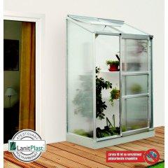 skleník VITAVIA IDA 900 PC 4 mm strieborný