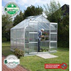 skleník VITAVIA URANUS 6700 PC 4 mm strieborný