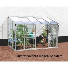 skleník VITAVIA IDA 6500 PC 4 mm strieborný