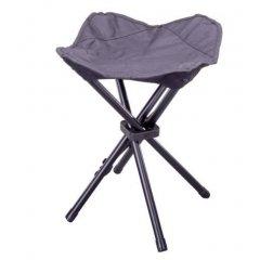 Kempovacia skladacia stolička - čierna