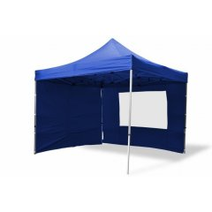 Záhradný párty stan nožnicový PROFI 3x3 m modrý + 4 bočné steny