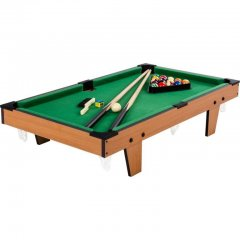Mini biliard pool s príslušenstvom 92 x 52 x 19 cm - svetlý