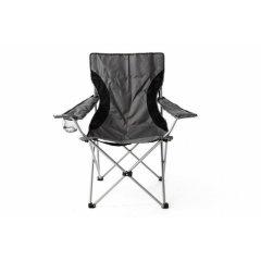 Kempingová rybárska skladacia stolička - sivá