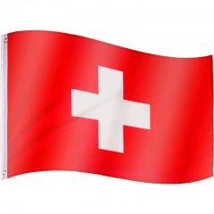Vlajka Švýcarsko - 120 cm x 80 cm