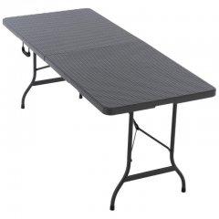 Skládací přenosný stůl 180 cm, antracit