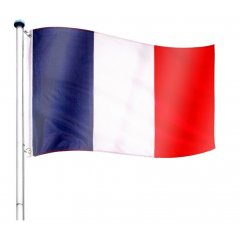Vlajkový stožiar vrátane vlajky Francúzsko - 650 cm