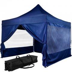 """Stan INSTENT """"PRO"""" s pojízdnou taškou - 3 x 3 m, modrý"""